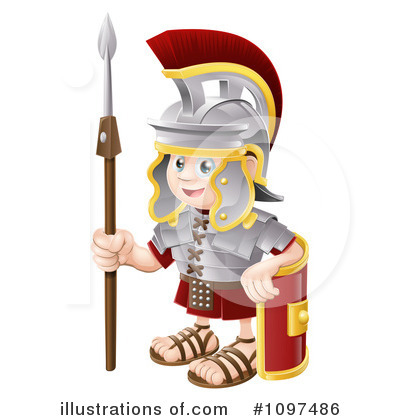 Spartan Clipart #1097486 by AtStockIllustration