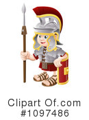 Royalty-Free (RF) Spartan Clipart Illustration #1097486