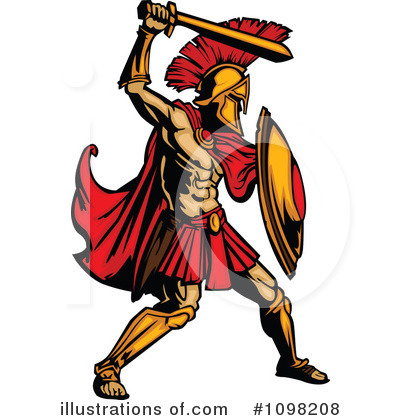 Spartan Clipart #1098208 by Chromaco