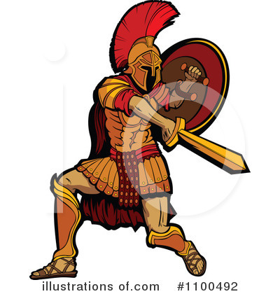 Spartan Clipart #1100492 by Chromaco
