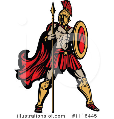 Spartan Clipart #1116445 by Chromaco