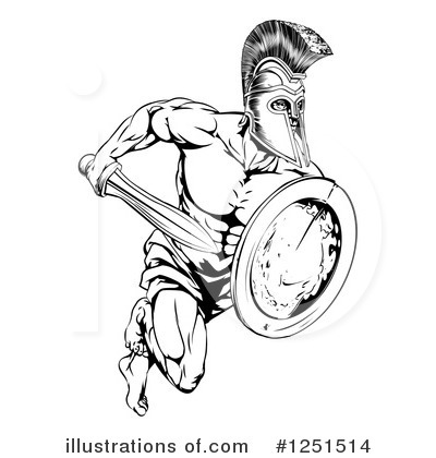 Soldier Clipart #1251514 by AtStockIllustration