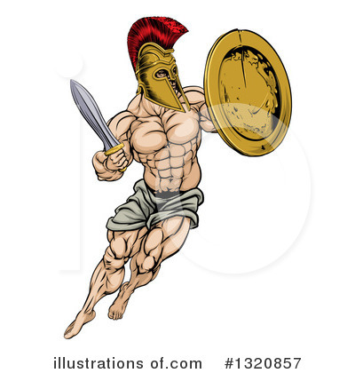 Warrior Clipart #1320857 by AtStockIllustration