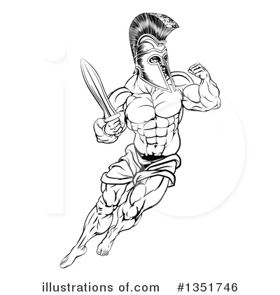 Spartan Clipart #1351746 by AtStockIllustration