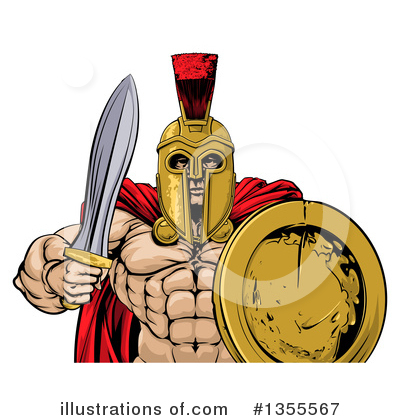 Gladiator Clipart #1355567 by AtStockIllustration