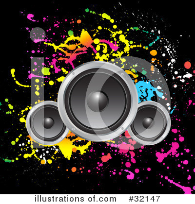 music speakers clipart. royalty-free (rf) speakers clipart illustration #32147 by kj pargeter music