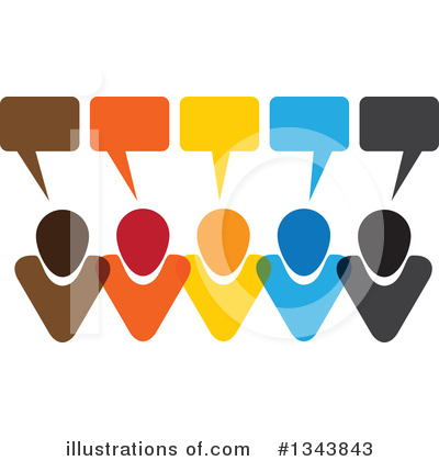 Royalty-Free (RF) Speech Balloon Clipart Illustration by ColorMagic - Stock Sample #1343843