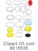 Speech Balloons Clipart #215535 by Cory Thoman