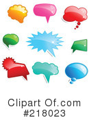Speech Balloons Clipart #218023 by KJ Pargeter