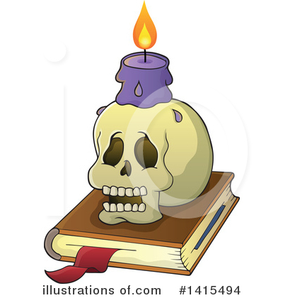 Royalty-Free (RF) Spell Book Clipart Illustration by visekart - Stock Sample #1415494