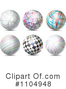 Royalty-Free (RF) Spheres Clipart Illustration #1104948