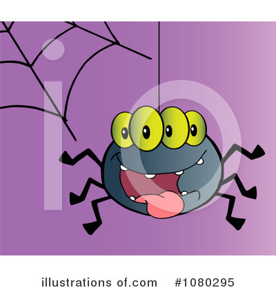 Royalty-Free (RF) Spider Clipart Illustration by Hit Toon - Stock Sample #1080295