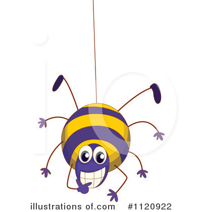 Royalty-Free (RF) Spider Clipart Illustration by Graphics RF - Stock Sample #1120922