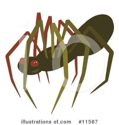 Royalty-Free (RF) Spider Clipart Illustration by AtStockIllustration - Stock Sample #11567