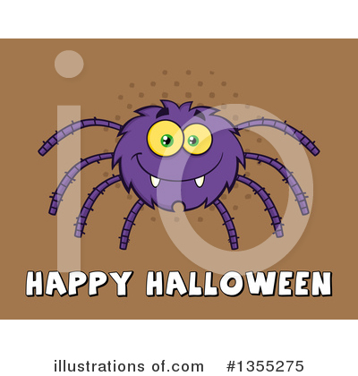 Royalty-Free (RF) Spider Clipart Illustration by Hit Toon - Stock Sample #1355275
