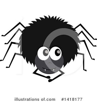 Royalty-Free (RF) Spider Clipart Illustration by Pams Clipart - Stock Sample #1418177