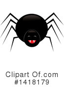Royalty-Free (RF) Spider Clipart Illustration #1418179