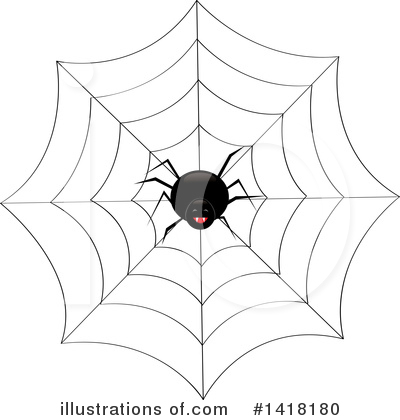Royalty-Free (RF) Spider Clipart Illustration by Pams Clipart - Stock Sample #1418180