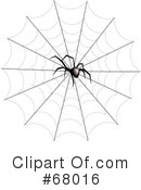 Royalty-Free (RF) Spider Clipart Illustration #68016