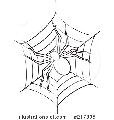 Spider Web Clipart #217895 - Illustration by Lal Perera