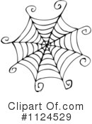 Royalty-Free (RF) Spiderweb Clipart Illustration #1124529
