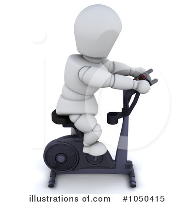 Royalty-Free (RF) Spin Bike Clipart Illustration by KJ Pargeter - Stock Sample #1050415