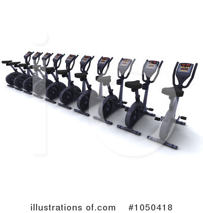 Spin Bike Clipart #1050418 by KJ Pargeter