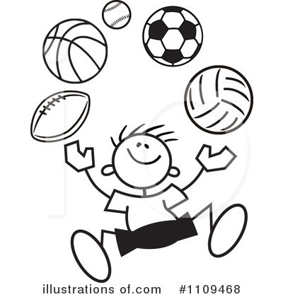 Soccer Clipart #1109468 by Johnny Sajem