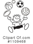 Royalty-Free (RF) Sports Clipart Illustration #1109468