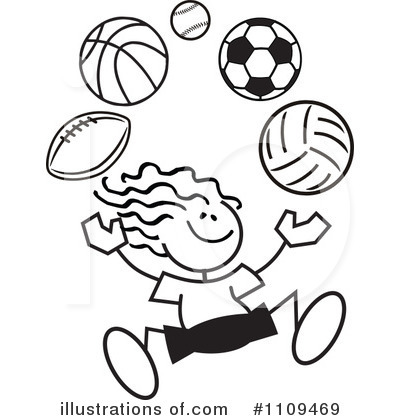 Soccer Clipart #1109469 by Johnny Sajem