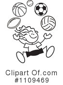 Sports Clipart #1109469 by Johnny Sajem