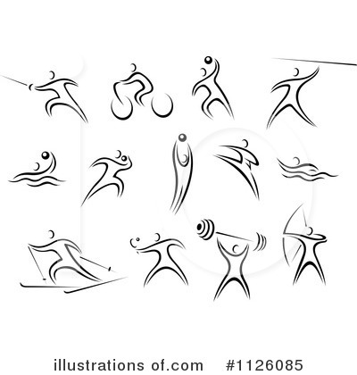 Shot Put Clipart #1126085 by Vector Tradition SM