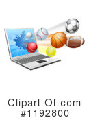 Royalty-Free (RF) Sports Clipart Illustration #1192800
