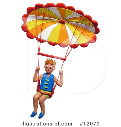 Parachute Clipart #12079 by Amy Vangsgard