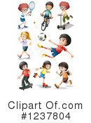 Royalty-Free (RF) Sports Clipart Illustration #1237804