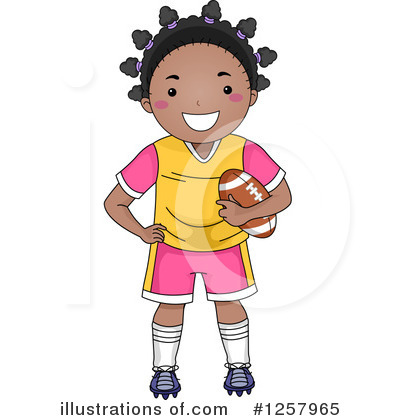 Football Clipart #1257965 by BNP Design Studio