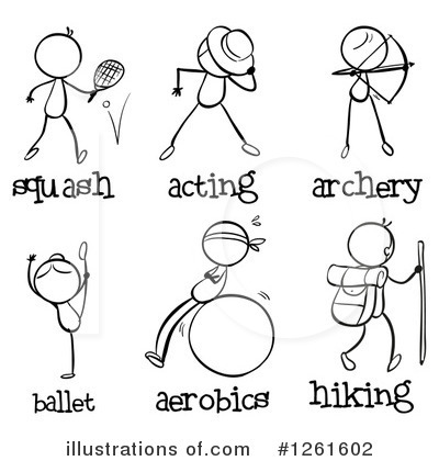 Archery Clipart #1261602 by Graphics RF