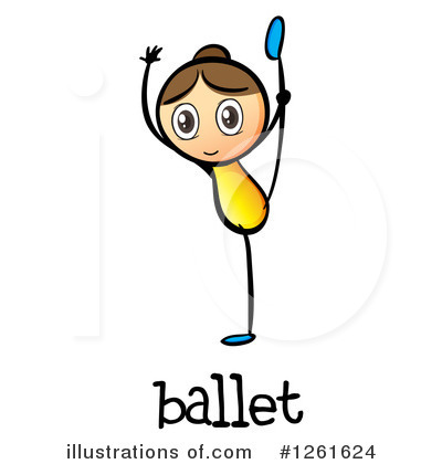Ballerina Clipart #1261624 by Graphics RF