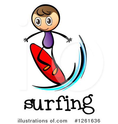 Surfer Clipart #1261636 by Graphics RF