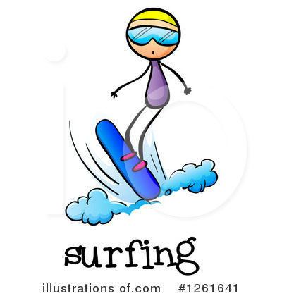 Surfer Clipart #1261641 by Graphics RF