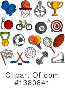 Sports Clipart #1380841 by Vector Tradition SM