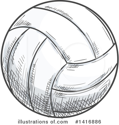 Volleyball Clipart #1416886 by Vector Tradition SM