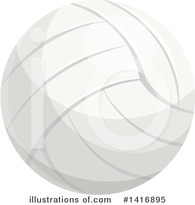 Volleyball Clipart #1416895 by Vector Tradition SM