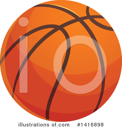 Basketball Clipart #1416898 by Vector Tradition SM