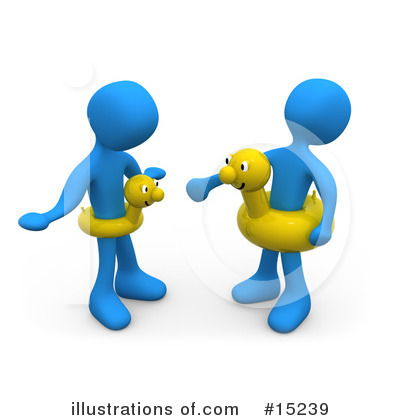 Blue People Clipart #15239 by 3poD