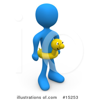 Blue People Clipart #15253 by 3poD
