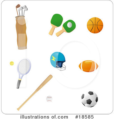 Golf Bag Clipart #18585 by Rasmussen Images
