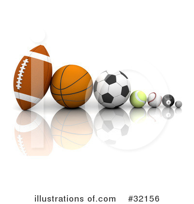 Clipart Sports Equipment. Sports Clipart #32156 by KJ