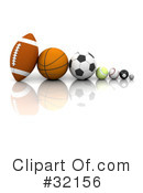 Royalty-Free (RF) Sports Clipart Illustration #32156