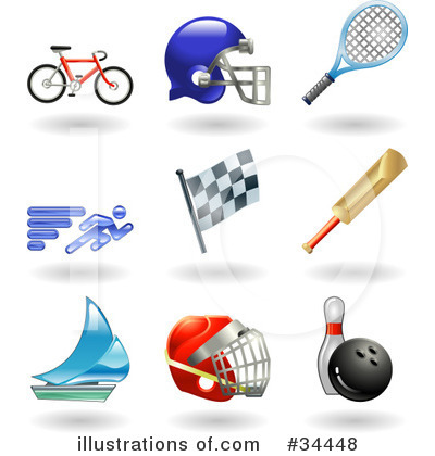 American Football Clipart #34448 by AtStockIllustration